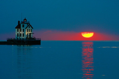 No Volcanic Ash - Just a Lake Erie Sunset!