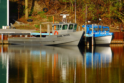 King Fishery - 'Dawn Marie' &  'Polly Ann' on a Spring Morning!