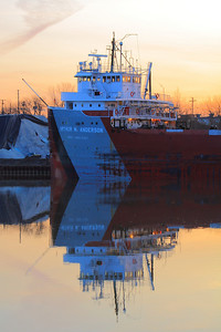'S.S. Arthur M. Anderson' - With the Glow of Morning!