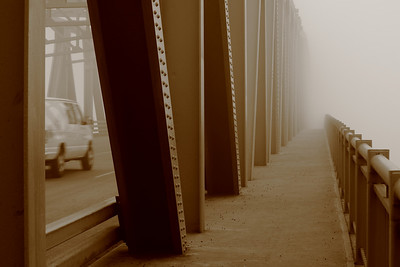 A Bridge, Fog & Sepia!