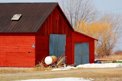 Just a Red Barn Along Lake Erie!