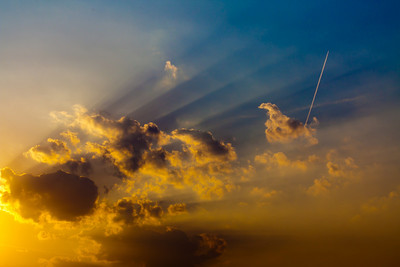 ...then he said 'Let there be Light' and OK a Contrail or Two!