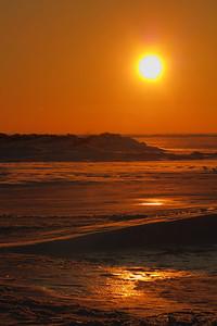Sunset - Along a Frozen Beach!