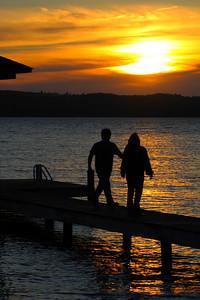 Silhouettes on a Finger Lake - Seneca Lake Sunset!