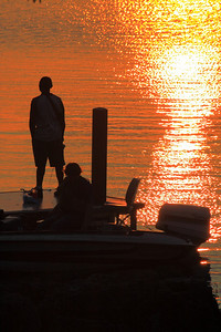 Sunset Silhoutte at Dockside!