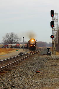 NS #6112 - Headed West onto the ex NKP 'Bellevue Line'!