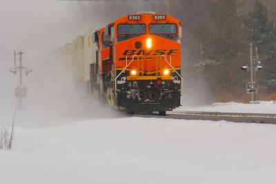 BNSF #6303 - With a Snowy Blast!