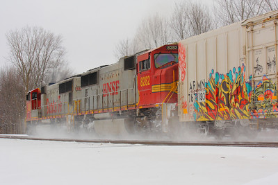 BNSF #8226 and #8282 - A Pair of 'Warbonnets' Headed West!