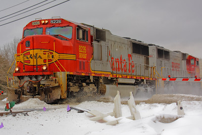 BNSF - 'Warbonnets' in the Snow!