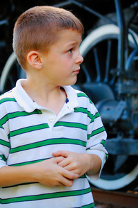 Cautiously Checking out the Nickel Plate 765 (NKP 765) - Steam in the Cuyahoga Valley 2010!  © 2010 Paul L. Csizmadia  All Rights Reserved  No Use Allowed without Permission