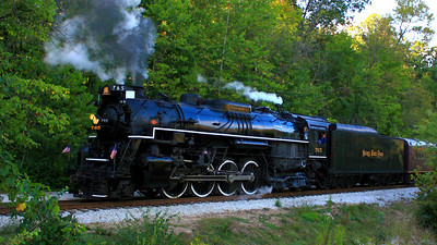 Nickel Plate 765 (NKP 765) - Running on the Cuyahoga Valley Scenic Railroad!  © 2010 Paul L. Csizmadia  All Rights Reserved  No Use Allowed without Permission