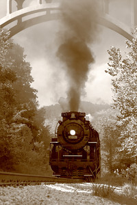 Nickel Plate 765 (NKP 765) - A Nostalgic Twist of Sepia & Steam - On the Cuyahoga Valley Scenic Railroad!  © 2010 Paul L. Csizmadia  All Rights Reserved  No Use Allowed without Permission