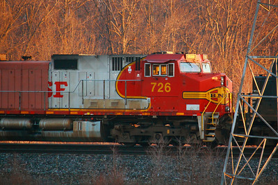 BNSF #726 - In the Morning Sun!