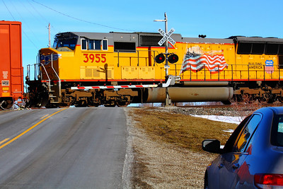 Union Pacific #3955 - Still With the Flag, Eastbound In the #2 Spot!