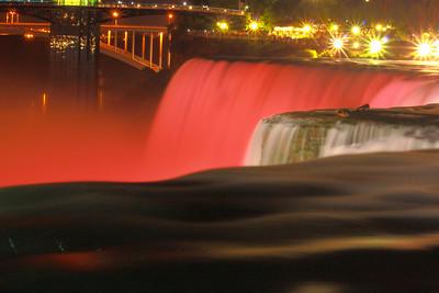 Nightime Niagara - Lights and Color!