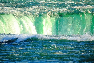 Niagara - Rounding the Horseshoe Falls!