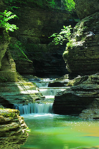 Within the 'Glen of Pools' - Watkins Glen State Park!