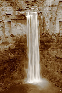 Taughannock Falls - With a Touch of Sepia!