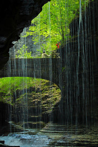 Beneath the 'Rainbow Falls' of Watkins Glen!