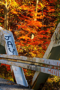 'A Bridged' Bit of Fall Color!  © 2010 Paul L. Csizmadia  All Rights Reserved  No Use Allowed without Permission