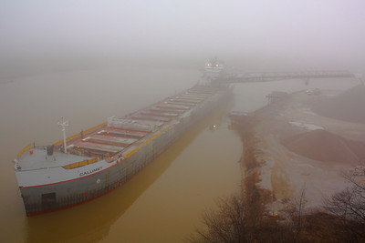 The 'Calumet' - Dockside in the Fog!