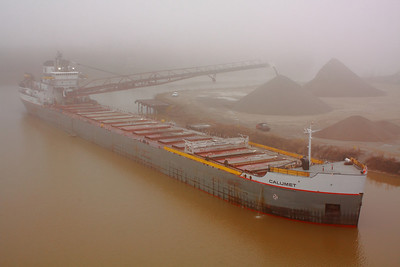 The 'Calumet' - Foggy Morning Dockside in Lorain, Ohio!