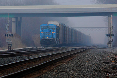 NS #8437 (ex CR 6261) - Waiting for a Crew as the Fog Rolls In!