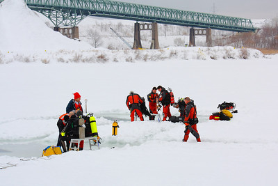Ice Diving Certification - Where Else but on the Frozen Black River!