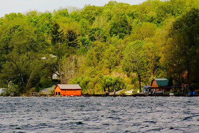 'Little Red Boathouse' - On Seneca Lake!  © 2010 Paul L. Csizmadia  All Rights Reserved  No Use Allowed without Permission  View on black  Along the Eastern shore of Seneca Lake, just North of Lodi Point.  With a depth of 654 feet, it is the largest of the 11 Finger Lakes in New York State.