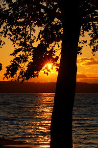 'Seneca Lake' - Silhouette at Sunset!  © 2010 Paul L. Csizmadia  All Rights Reserved  No Use Allowed without Permission  View on black  Sunset along the Eastern shore of Seneca Lake, just South of Lodi Point.  With a depth of 654 feet, it is the largest of the 11 Finger Lakes in New York State.