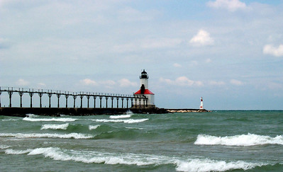 Michigan City Light on Lake Michigan!