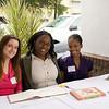 Alpha House volunteer Bridget Murtha (left), Community Relations Coordinator Brandi Wilkerson (center) and volunteer Lauren Jones (right)