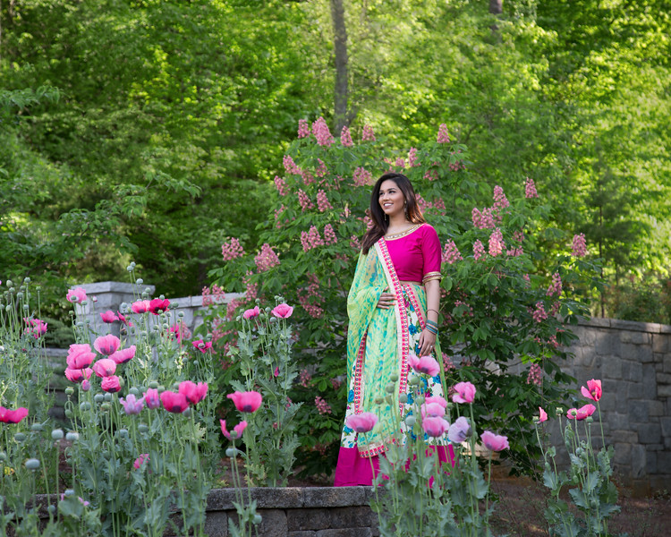 Young Lady in Garden