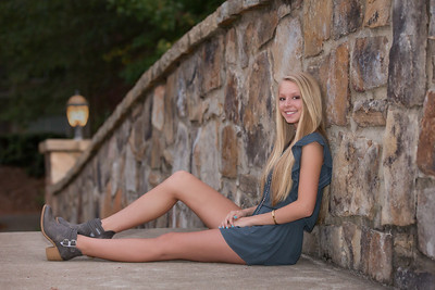 High School Senior portraits taken in Alpharetta at Old Milton Park