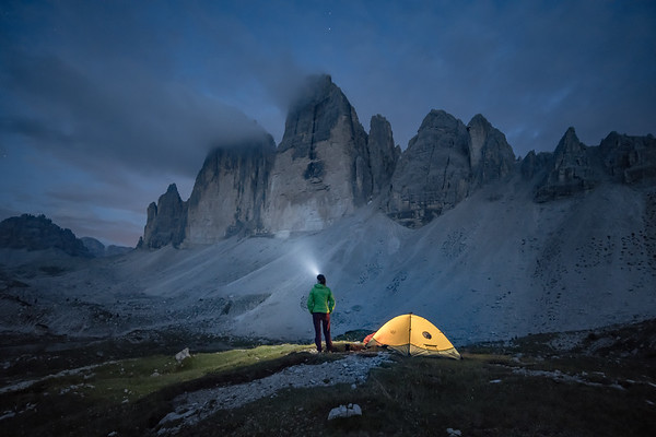 Valentine below the North Face of Tre Cime di Lavaredo