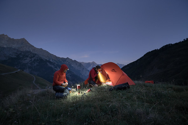 Camping above Ollomont, Italy