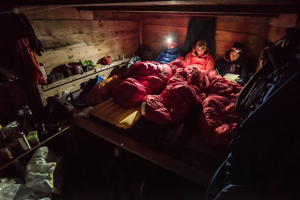 Waiting out a storm in a cabin, near Kulusuk, East Greenland