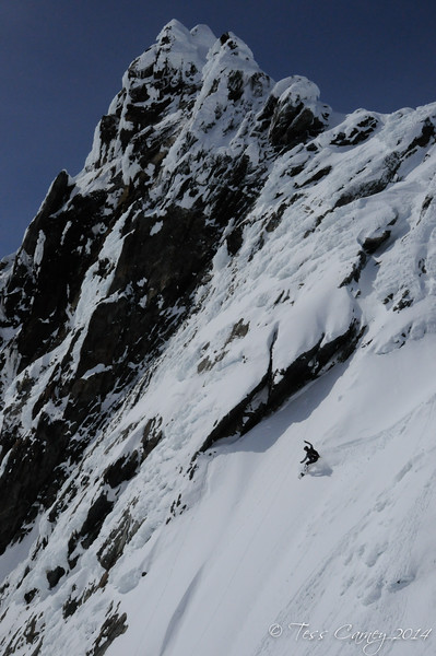 Nick finding the powder pocket