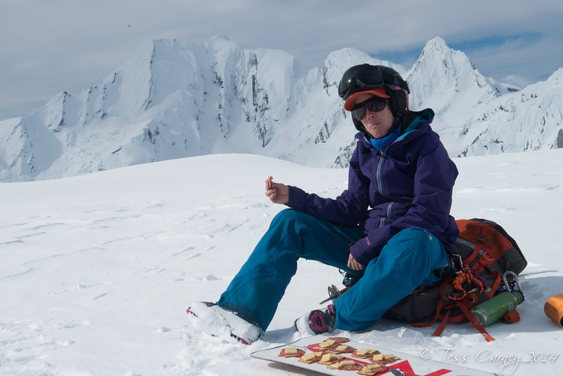 Me and my snowboard lunch platter photo by Kester Brown