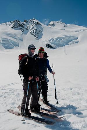 Colin Boyd and Ruari Macfarlane showing there glacier steez
