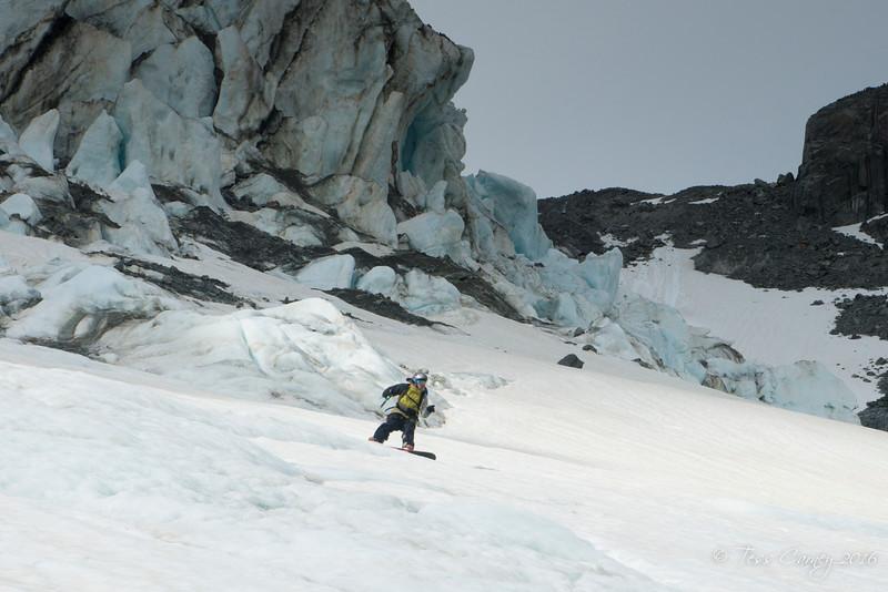 Seperation Glacier serac field
