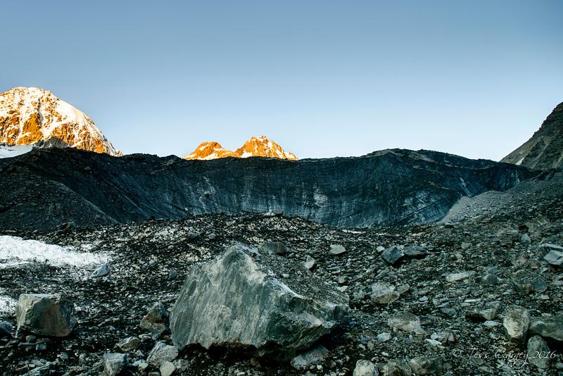Seperation Glacier headwall.