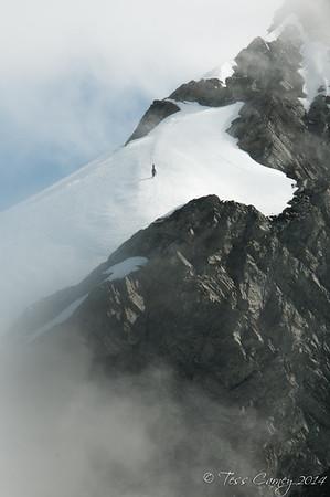 Shane Orchard on Brodrick Peak