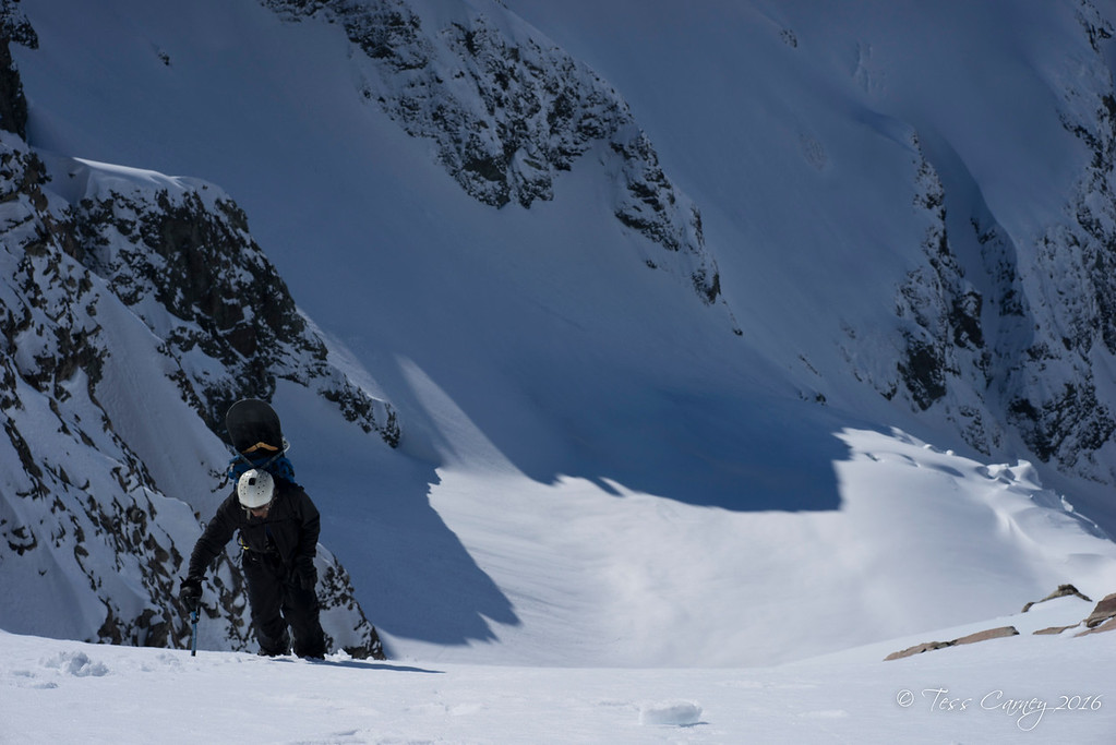 The north west couloir of the Warrior.