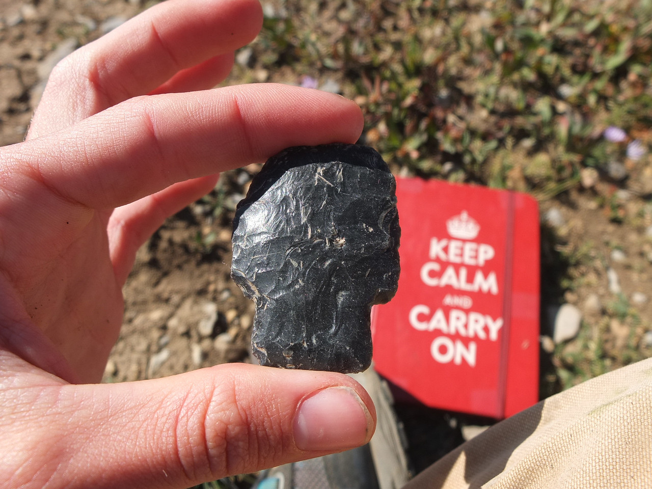A 9,500 year old Alberta style projectile point that was discovered above 11,000 feet in the Teton Range