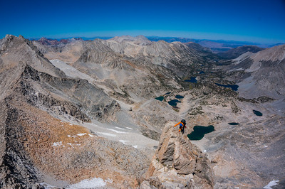 North Arete of Bear Creek Spire. High Sierra, California.