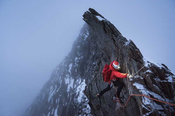 Tom Coney on the Taschhorn - Dom Traverse, Switzerland