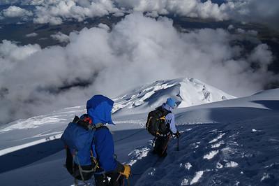 Climbers descending Cotopaxi. Ecuador.