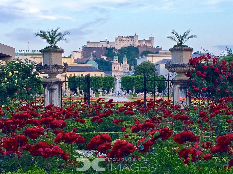 Salzburg and Mirabell Gardens