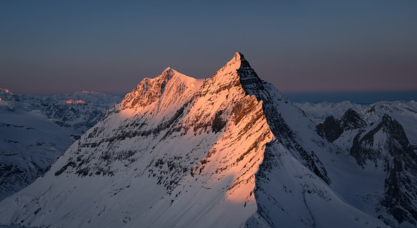 Grande Casse at sunrise from the Grande Motte